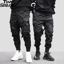 2020 Hip Hop Cargo pantalon poches hommes Streetwear Harajuku Joggers pantalon HipHop Swag Ribbion sarouel mode pantalon décontracté