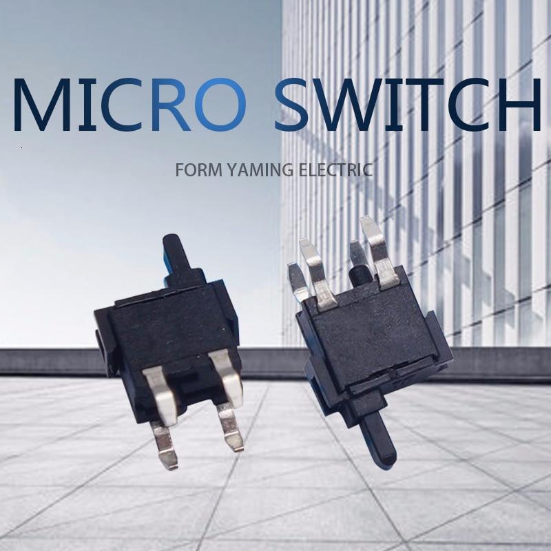 50 Uds. Botón negro interruptor Micro Fretting 8,5 altura televisión DVD/EVD Puerta de Granero interruptor de prueba de cámara
