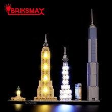 Kit de iluminación Led BriksMax para arquitectura, Bloques de construcción de Ciudad de Nueva York, Compatible con 21028 (no incluye el modelo)