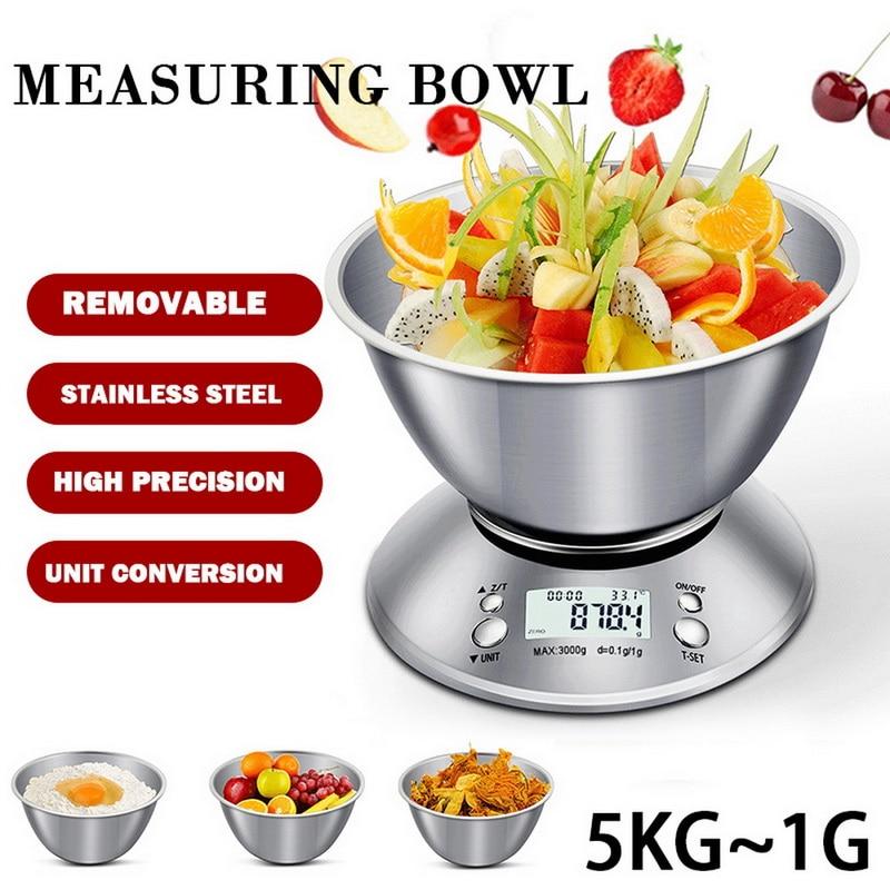 Balance de poids en acier inoxydable professionnelle Balance de cuisine numérique domestique balances alimentaires électroniques outils de mesure