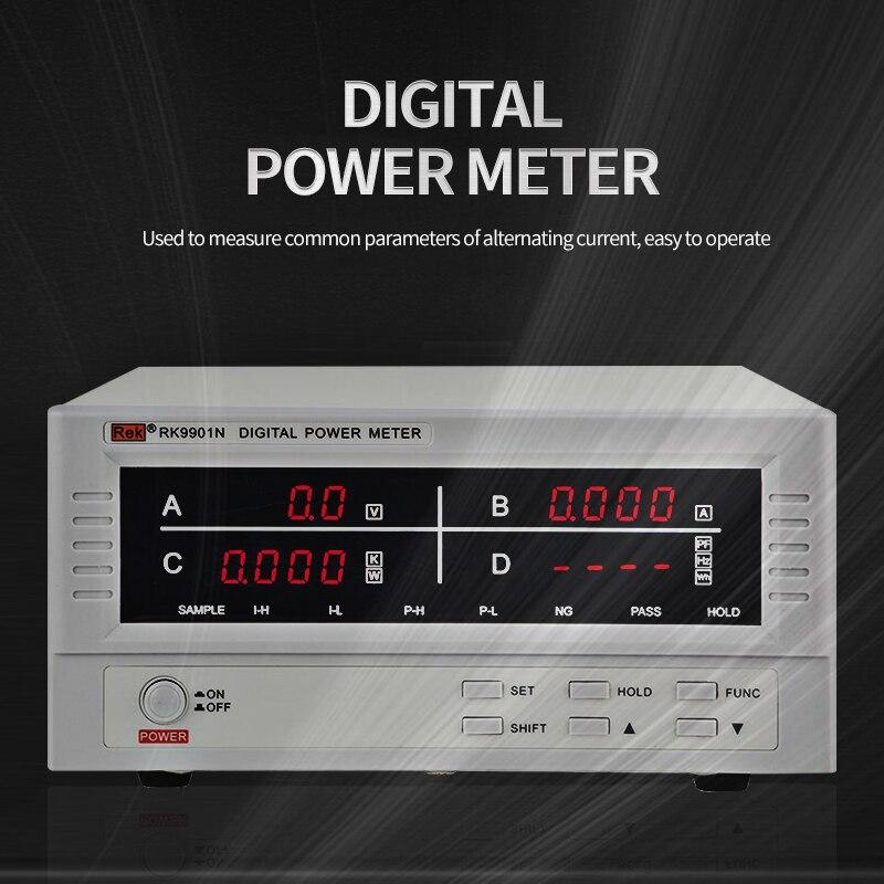 RK9800N Intelligent Electricity Meter Electricity Monitor AC Power Test Electricity Meter Tester Tool Measurement Instrumment