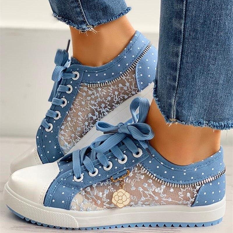 طالب بنات الصيف شبكة أحذية رياضية المرأة الحلو الأزرق أحذية أنيقة الإناث فولكان أحذية رياضية المشي سيدة أحذية رياضية الإناث
