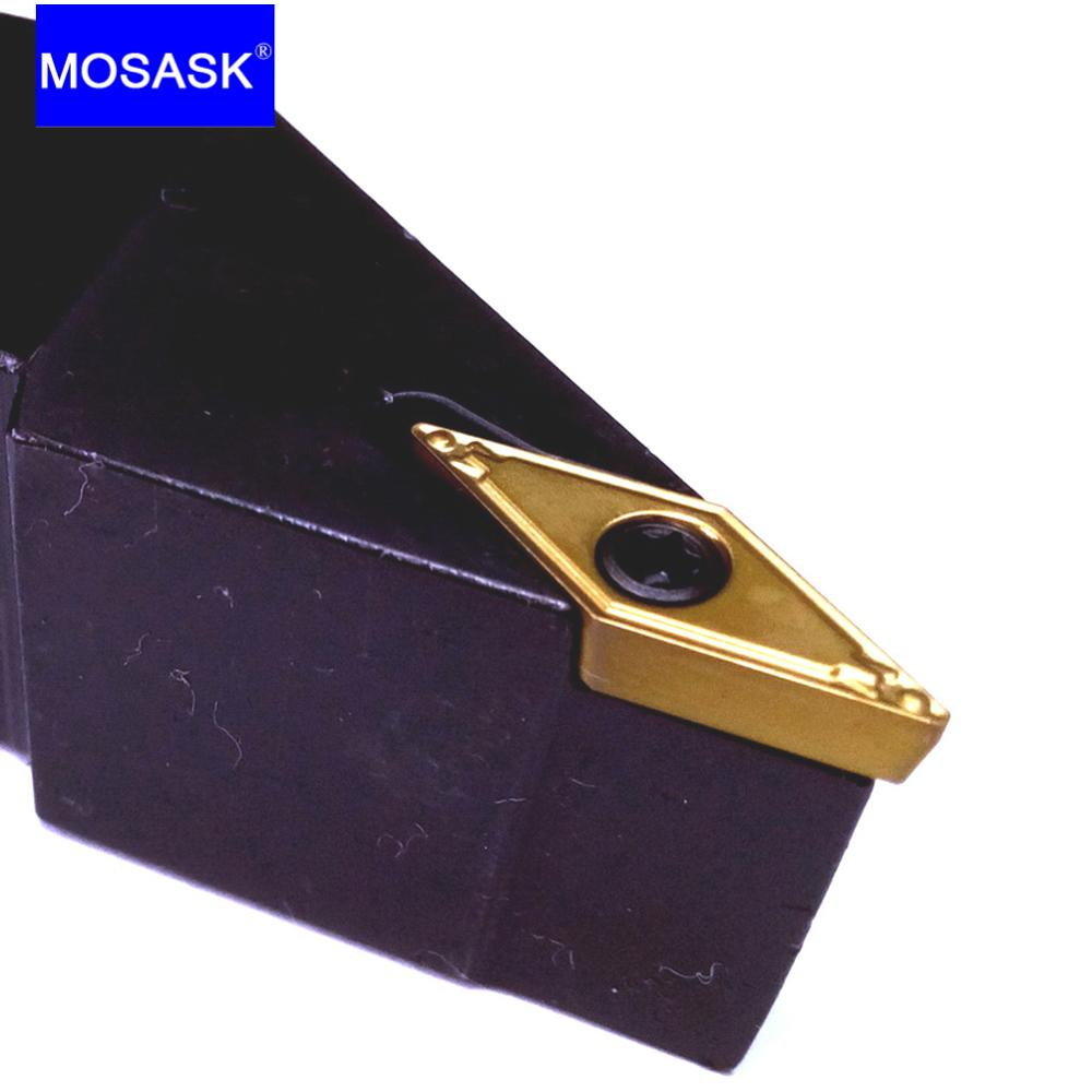 MOSASK Tungsten Carbide Inserts SVJCL12 16 20 25 MM CNC Cutters Lathe Tool Holders Machining External Turning Toolholders