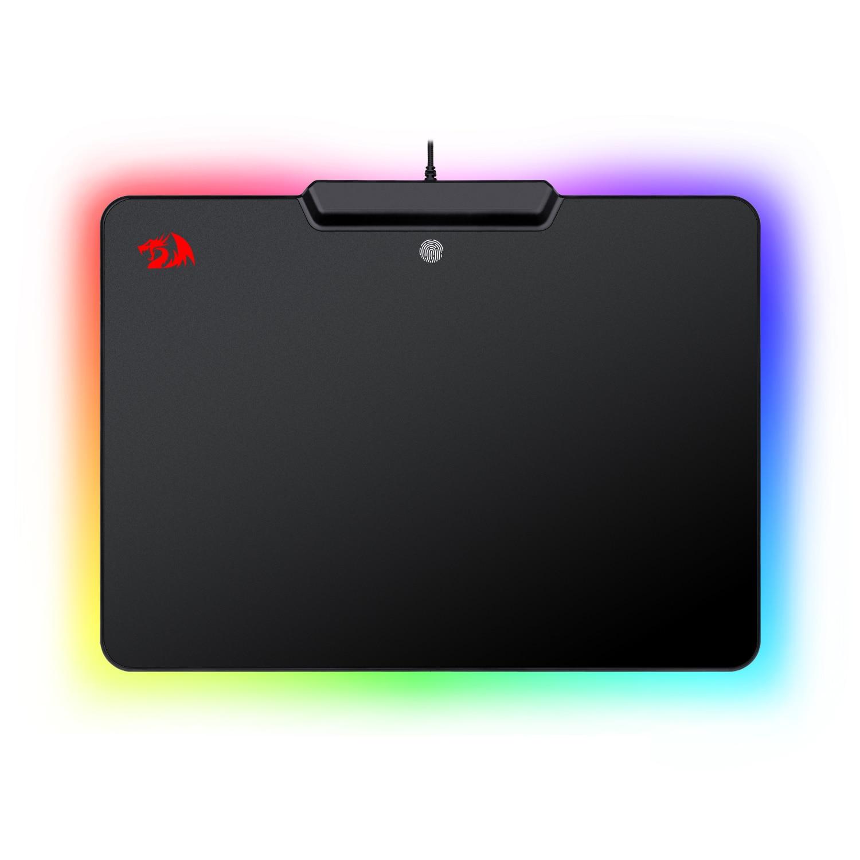 RedragonP009 لعبة ماوس الوسادة RGB LED الإضاءة تأثير السلكية الصلب عدم الانزلاق المطاط منخفض الاحتكاك سطح فأر معدن الوسادة للاعبين