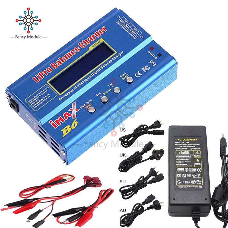 IMAX B6 цифровой RC Lipo NiMh зарядное устройство + AC мощность 12В 5А EU US UK AU адаптер