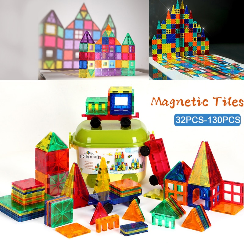 New Tile Magnetic Building Blocks Bricks Magnetic Tiles Constructor Technic Games Magnet Toy Model Educational Toys For Children magnetic blocks constructor toys for kids mini building magnet games children s designer educational toy for boys girls gift