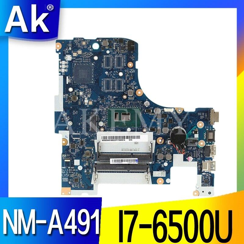 Para Lenovo 300-17ISK placa base de computadora portátil 5B20K61902 BMWD1 NM-A491 Tablero Principal SR2EZ I7-6500U CPU