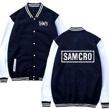 OA Sons of anarchy the child  SAMCRO Male Fashion Casual Baseball Jacket Sweatshirt Hip Hop Baseball uniform Men Sportswear
