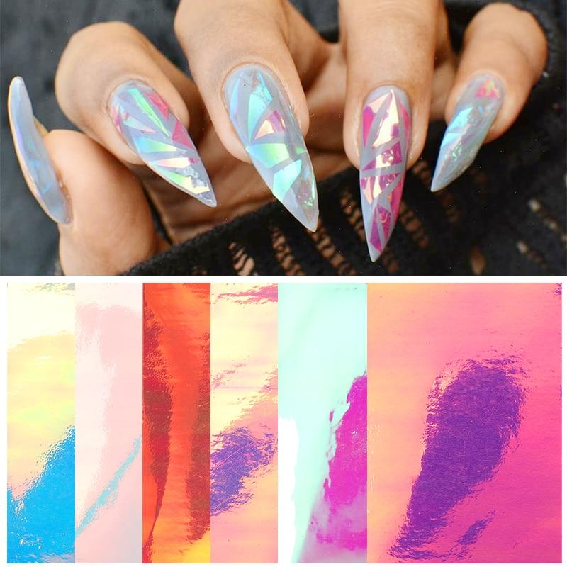 Pegatinas 3D para uñas, vinilos de caramelo de verano, pegatinas autoadhesivas coloridas para decoración de papel de cristal, calcomanías de transferencia, decoración deslizante para decoración de uñas