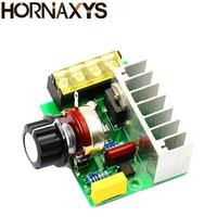 Электрический регулятор напряжения переменного тока, 4000 Вт, 0-220 В, КТУ, контроллер скорости двигателя, диммеры, затемнение скорости с гарант...
