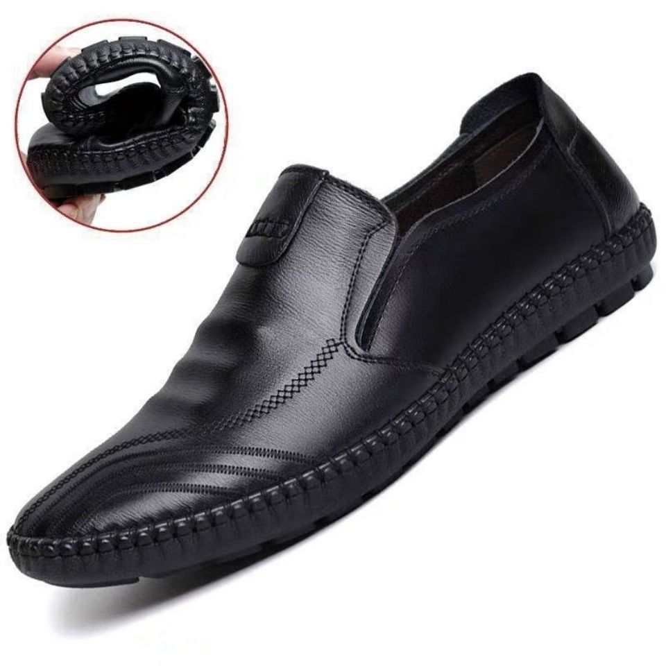 PU Soft Leather Men Shoes Spring and Autumn Soft Bottom Leather Shoes Spot Gommino