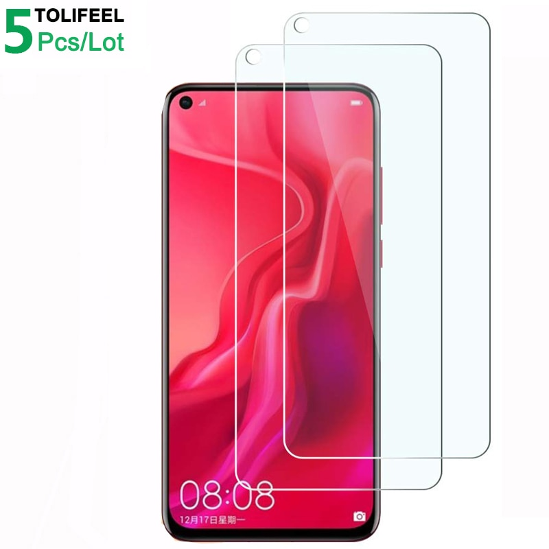 Cristal templado 5 uds. Para Huawei Nova 4, 9H para teléfono 2.5D Protector de pantalla, cristal Protector para Huawei Nova 4, cristal Nova4