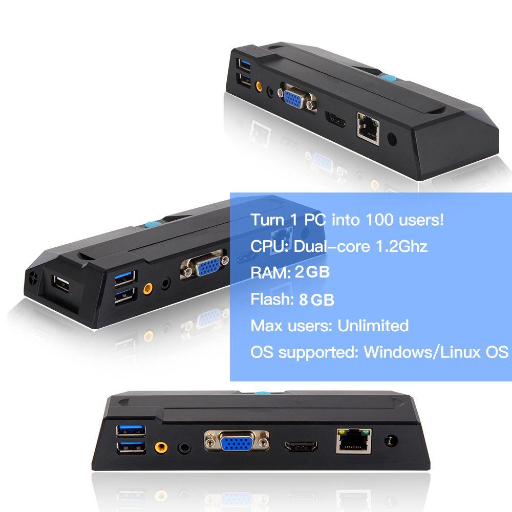 Venda quente fino cliente x2 duplo núcleo 1.2 ghz cpu 512 mb ram 4 gb flash linux mini estação de computador