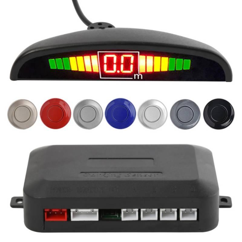 Автомобильный парктроник, радар для парковки с 4 датчиками, с подсветкой