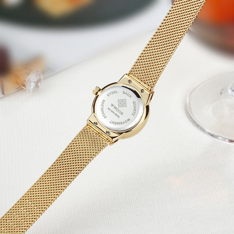 2021 WWOOR Top Brand Luxury Diamond Gold Women Watches Bracelet Ladies Casual Dress Quartz Small Wristwatches Ladies Reloj Mujer enlarge