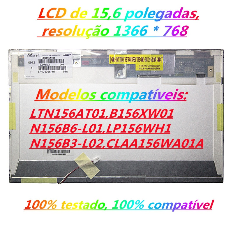 B156XW01 V.0 V.1 V.2 صالح N156B3-L04 LP156WH1 TLA1 TLC1 N156B3-L0A N156B3-L03 CLAA156WA01A ، LTN156AT01 30 دبوس