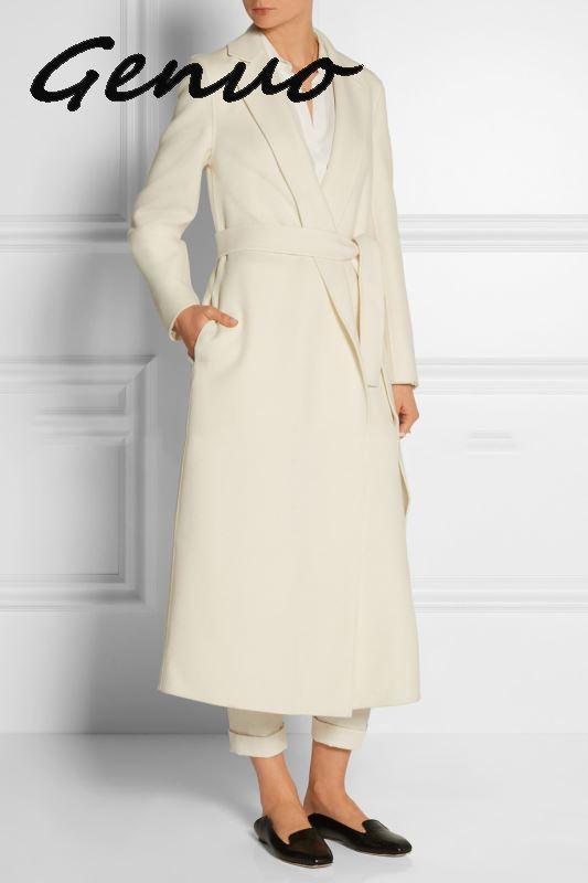 Abrigo largo tejido clásico con cinturón para Mujer, prendas de vestir exteriores...