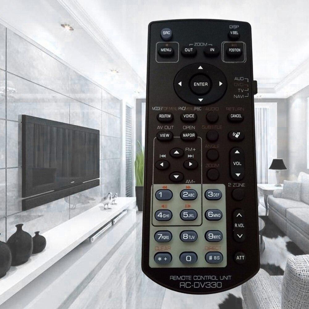 RC-DV330 Control remoto Universal negro pequeño DVD Multimedia coche Radio ABS accesorios de Audio reemplazar inalámbrico para Kenwood DDX271
