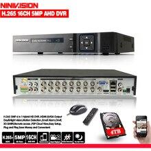 16 kanal AHD DVR 4MP 16CH AHD/CVI/TVI DVR 4M CCTV Video Recorder Hybrid DVR NVR HVR 5 In 1 DVR für überwachungs System