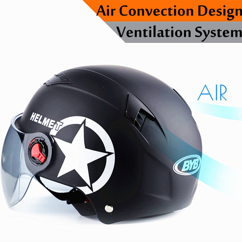 Motorcycle Helmet Scooter Bike Open Face Half Baseball Cap Anti-UV Safety Hard Hat Motocross Helmet Multiple Color Protect enlarge