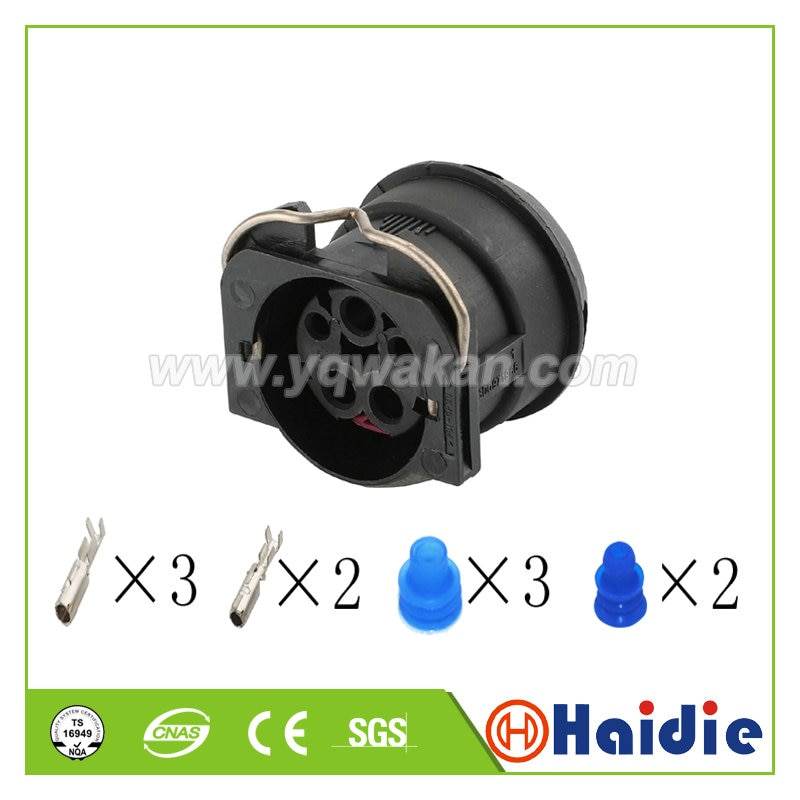 Free shipping 2sets 5pin auto electric wiring housing plug plastic sealed cable male connector
