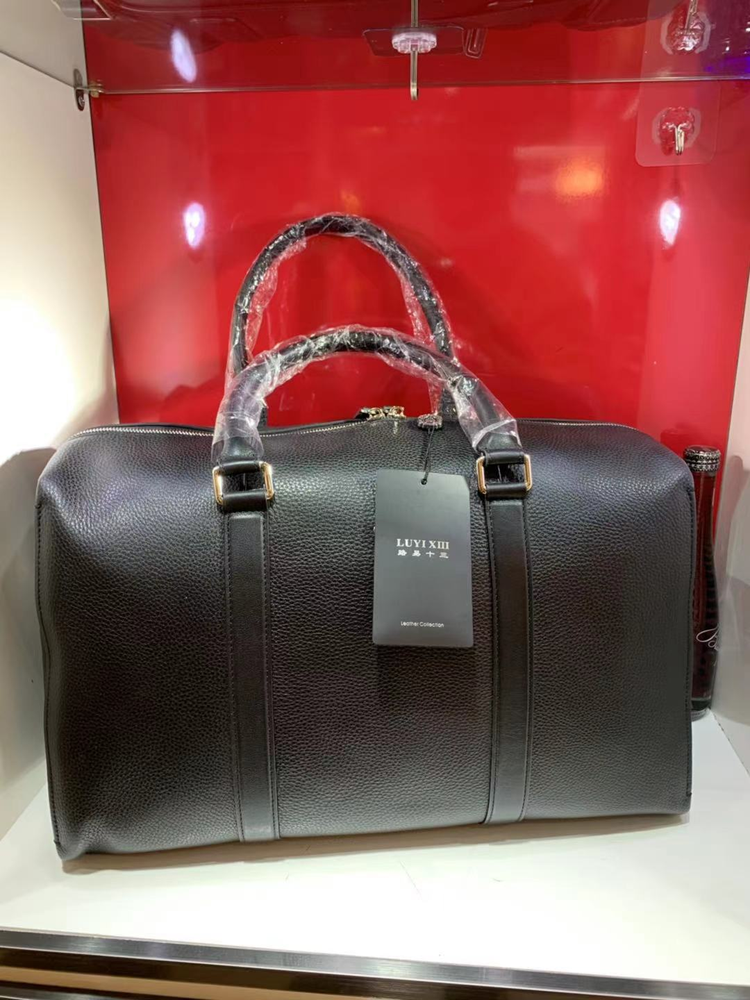 Luxury brand men's leather zipper handbag high quality fashion new woven leather high quality large capacity office travel bag