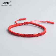 AMIU 41 Colors Tibetan Buddhist Love Lucky Charm Tibetan Bracelets & Bangles For Women Men Handmade