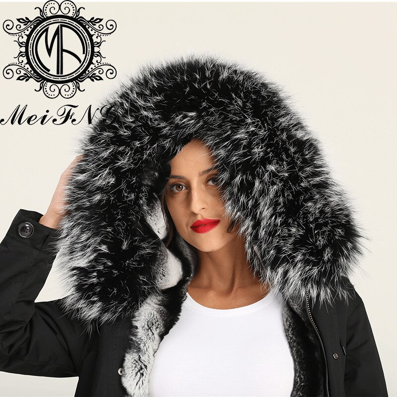 Black Big Unique Boutique Femme Hot Sale Real Rex Rabbit Chinchilla Color Lady Fur Jacket enlarge