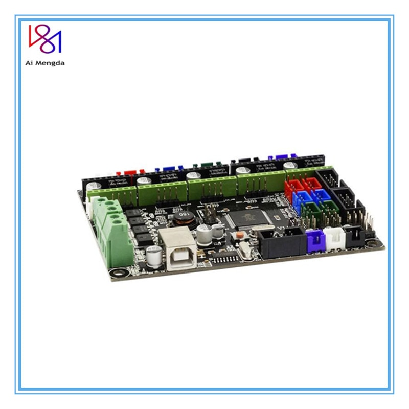 Mks Gen L V1.0 المتكاملة لوحة دارات مطبوعة Reprap Ramps 1.4 دعم A4988/drv8825/tmc2208/tmc2130 سائق لأجزاء طابعة ثلاثية الأبعاد