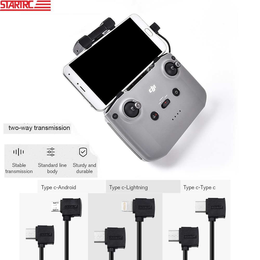data cable usb line for iphone ios android type c port for dji mavic pro mavic 2 platinum air phantom 4 3 inspire 1 2 drone 16cm Drone Data Cable Portable IOS Lightning Micro Type-C interface Data line for DJI Mavic Air 2S/ Air 2/DJI Mini 2 Accessories