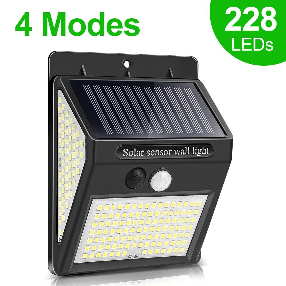 228 144 LED Solar Light Outdoor Solar Lamp PIR Motion Sensor Wall Light Waterproof Solar Powered Sunlight for Garden Decoration