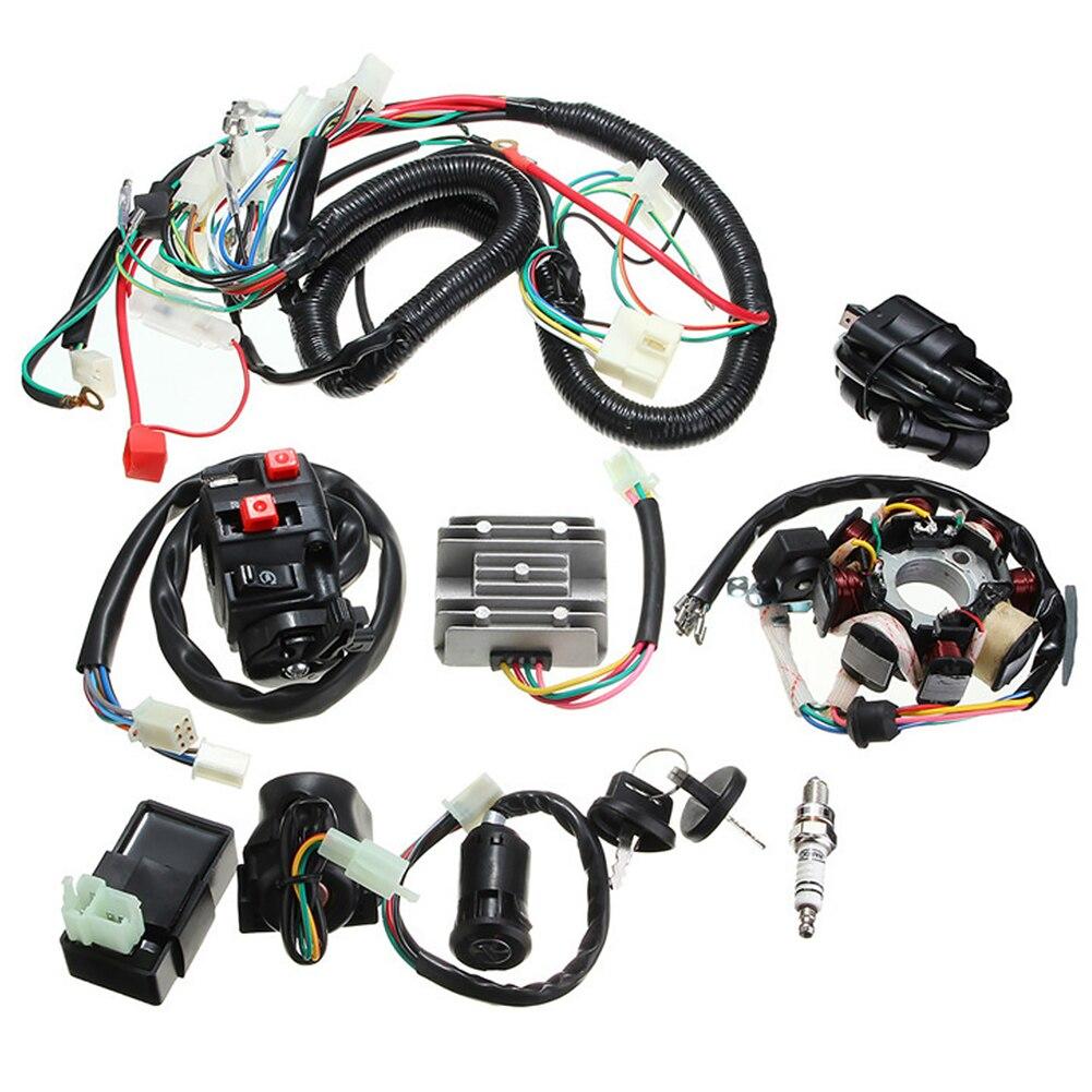 ATV Quad conjunto eléctrico CDI estator Kit cableado arnés Go Kart Loom 4 tiempos piezas de repuesto Buggy para 150CC 200CC 250CC