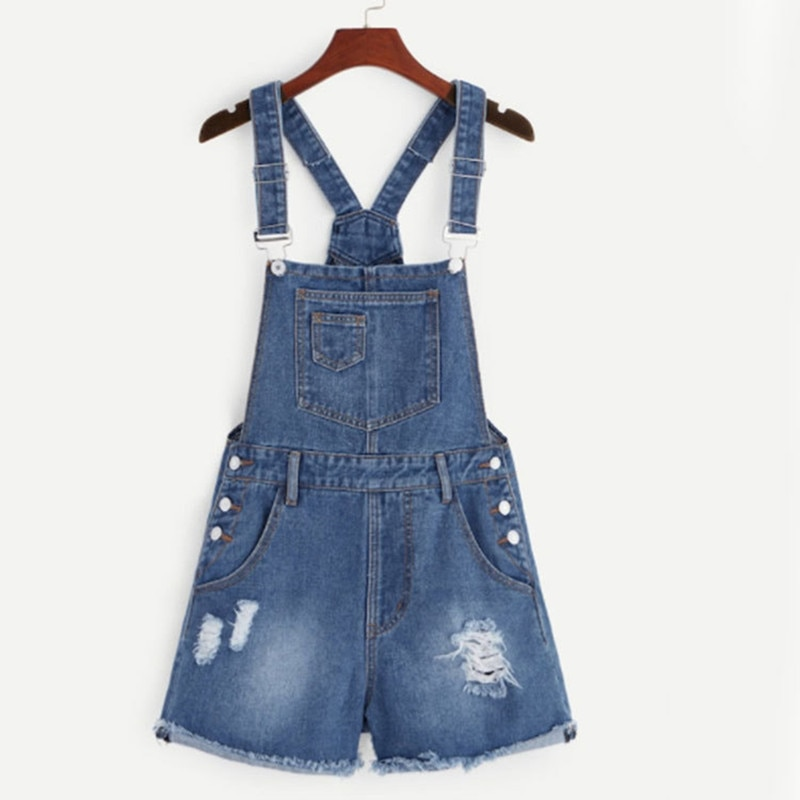 Summer  strap Jeans Shorts one piece jeans short women clothes women  wear