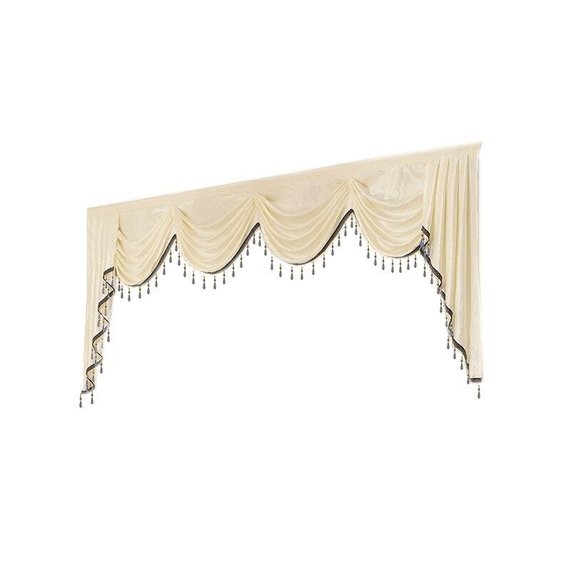 Cenefa 7 estilo lujoso hecho a medida para el dormitorio del Salón de la cocina del Hotel (cortina no incluida y tul)
