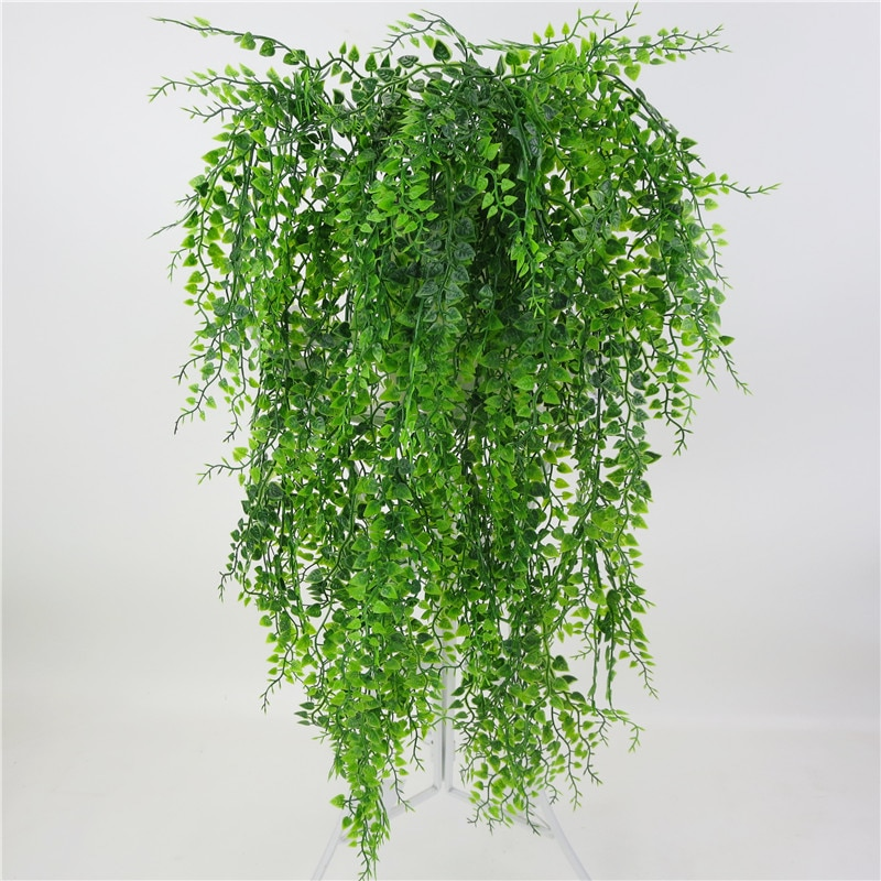 Artificial Plant Vines Wall Hanging Rattan Leaves Branches Outdoor Garden Home Decoration Plastic Fa
