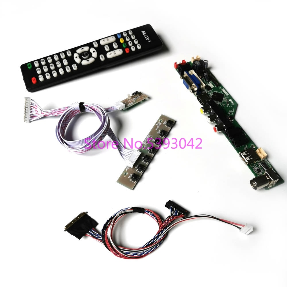 KIT fit LP125WH2 (SL)(D1)/(SL)(T1)/(SL)(T2)/(SL)(T3) Remote LVDS 40-Pin VGA+HDMI+USB LCD analog 1366*768 TV control drive board