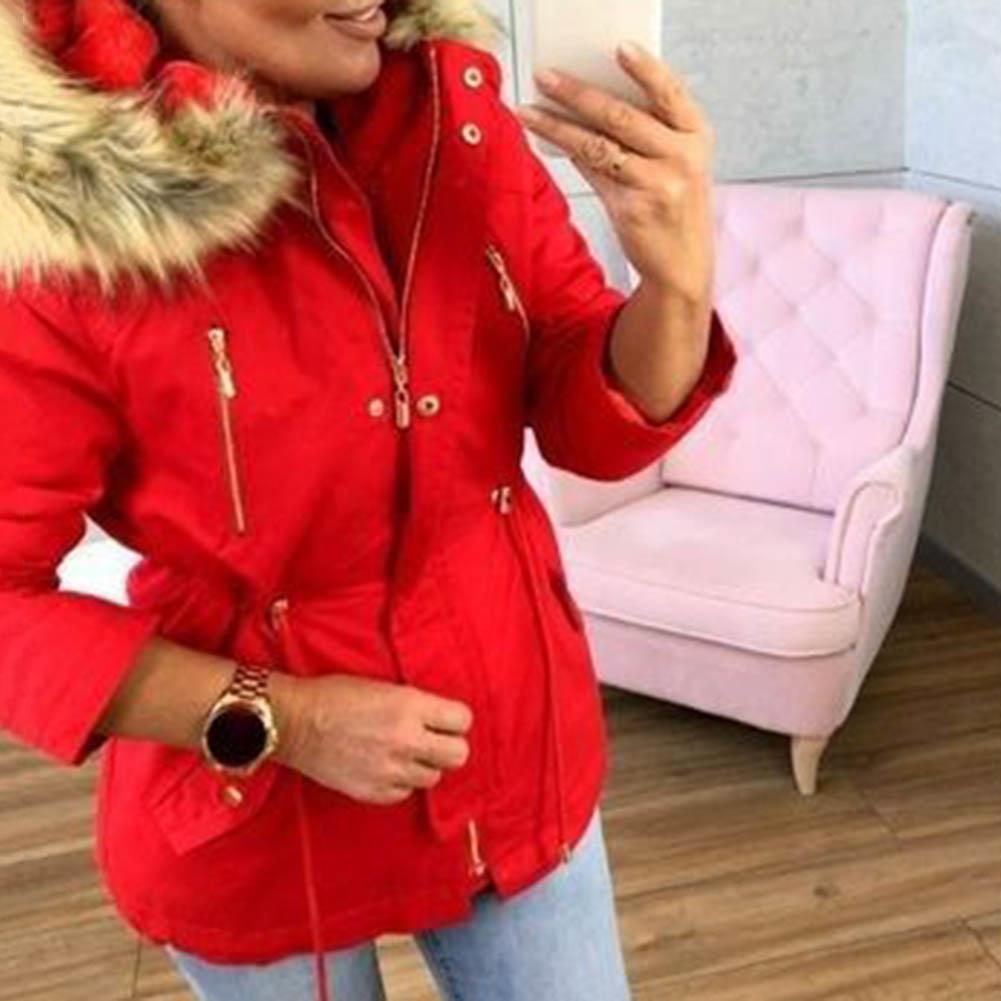 Фото - New Down Jacket Female Women Winter Coat Thickening Jacket Women Outwear Slim Parkas Hoodie Long Fur Collar Warm Parkas пуховик пуховик long down jkt 1