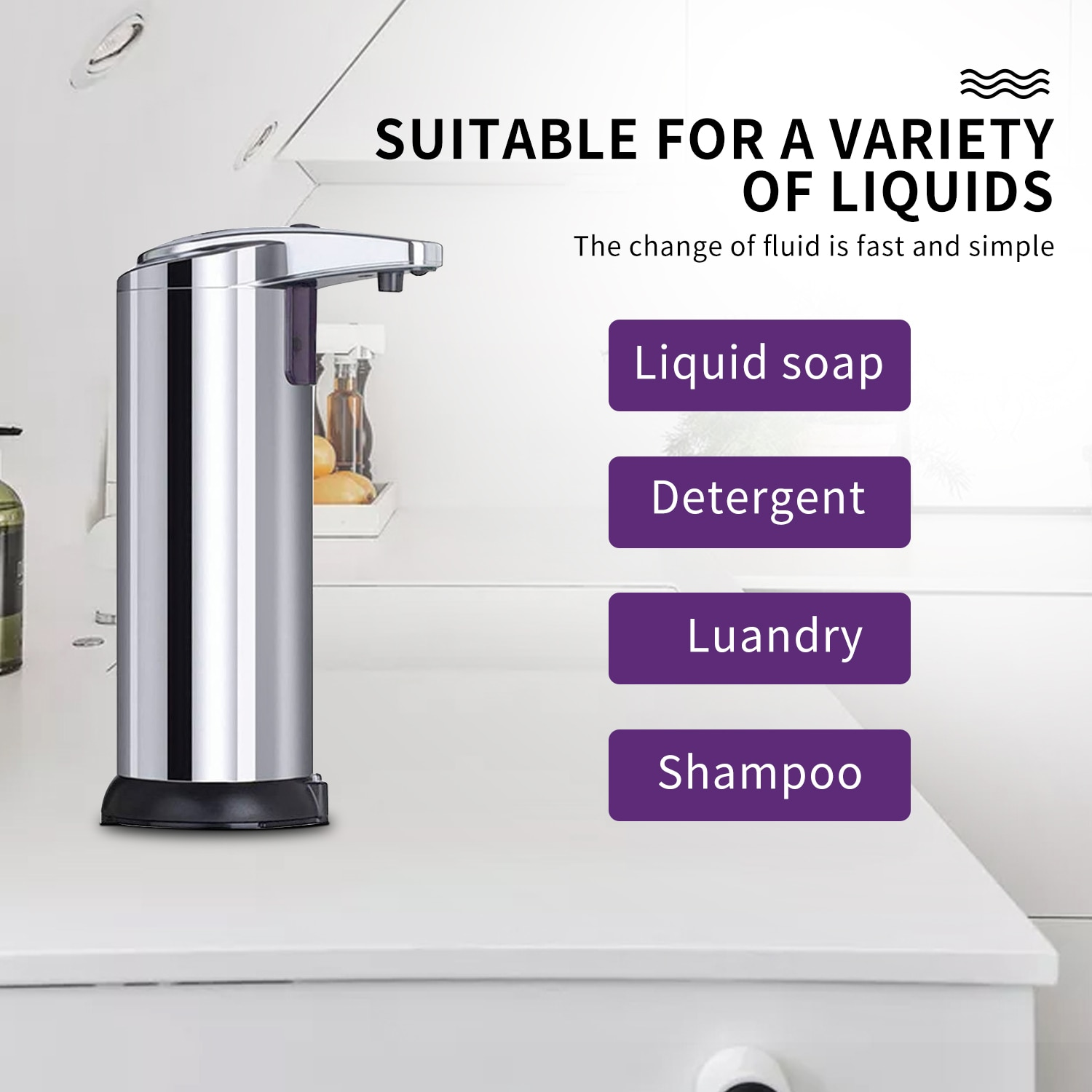 Hand Soap Dispenser Stainless Steel Automatic Dispenser Soap Smart Sensor Touchless Liquid Soap Dispenser Hand Washer Free ship enlarge