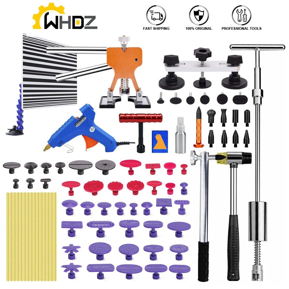 Paintless Dent Repair Puller Lifter Tool T Bar Hammer Removal Glue kit