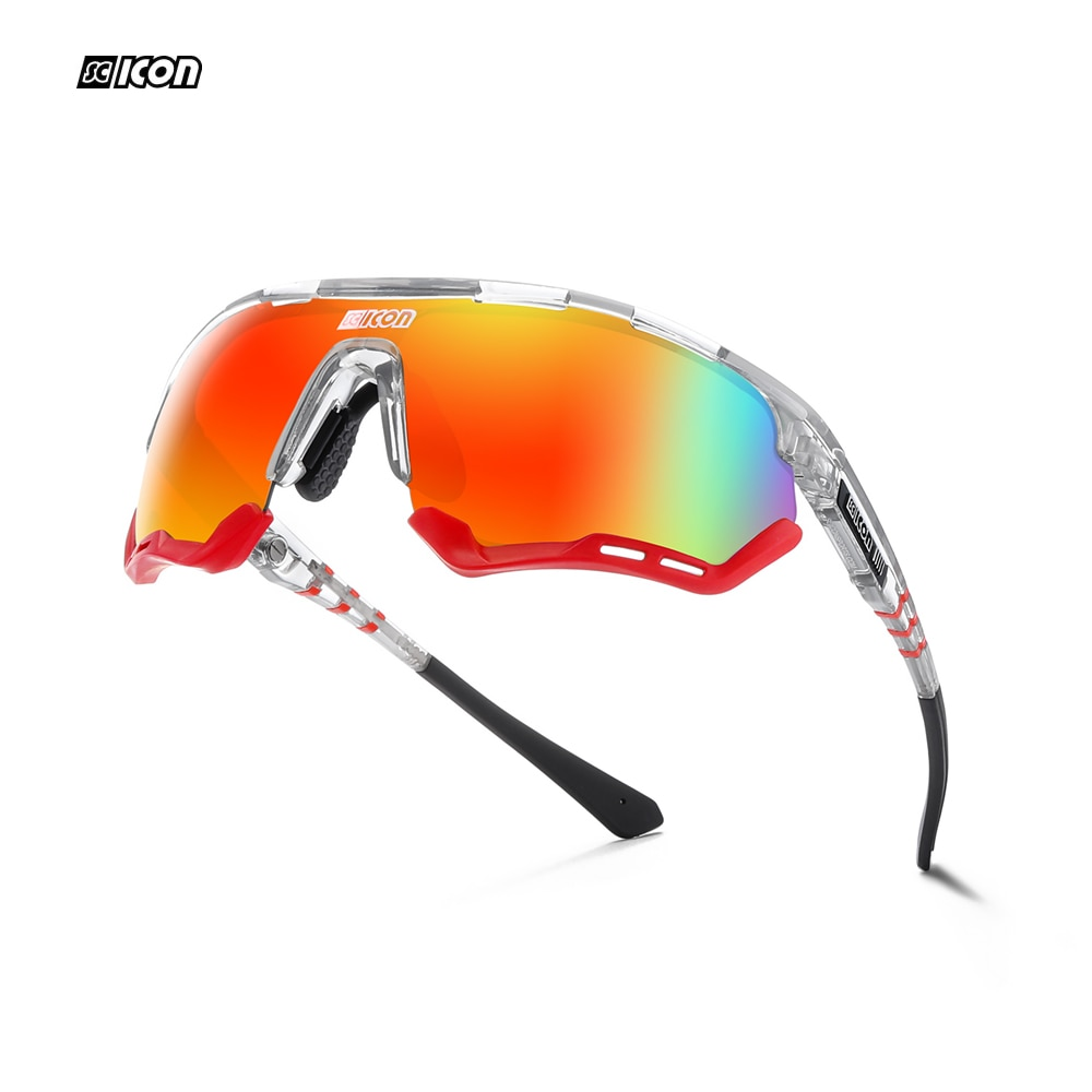 ايروتك سبورت بيرفورمانس نظارات شمسية عدسات قطبية رجالية بسماكة 1.2 مللي متر مخدات أنف للنظارة والاطار TR90