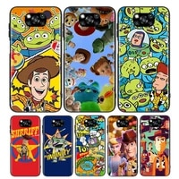 toy story for xiaomi poco x3 nfc m3 m2 x2 f3 f2 pro c3 f1 mi play mix 3 a2 a1 6x 5x black soft phone case