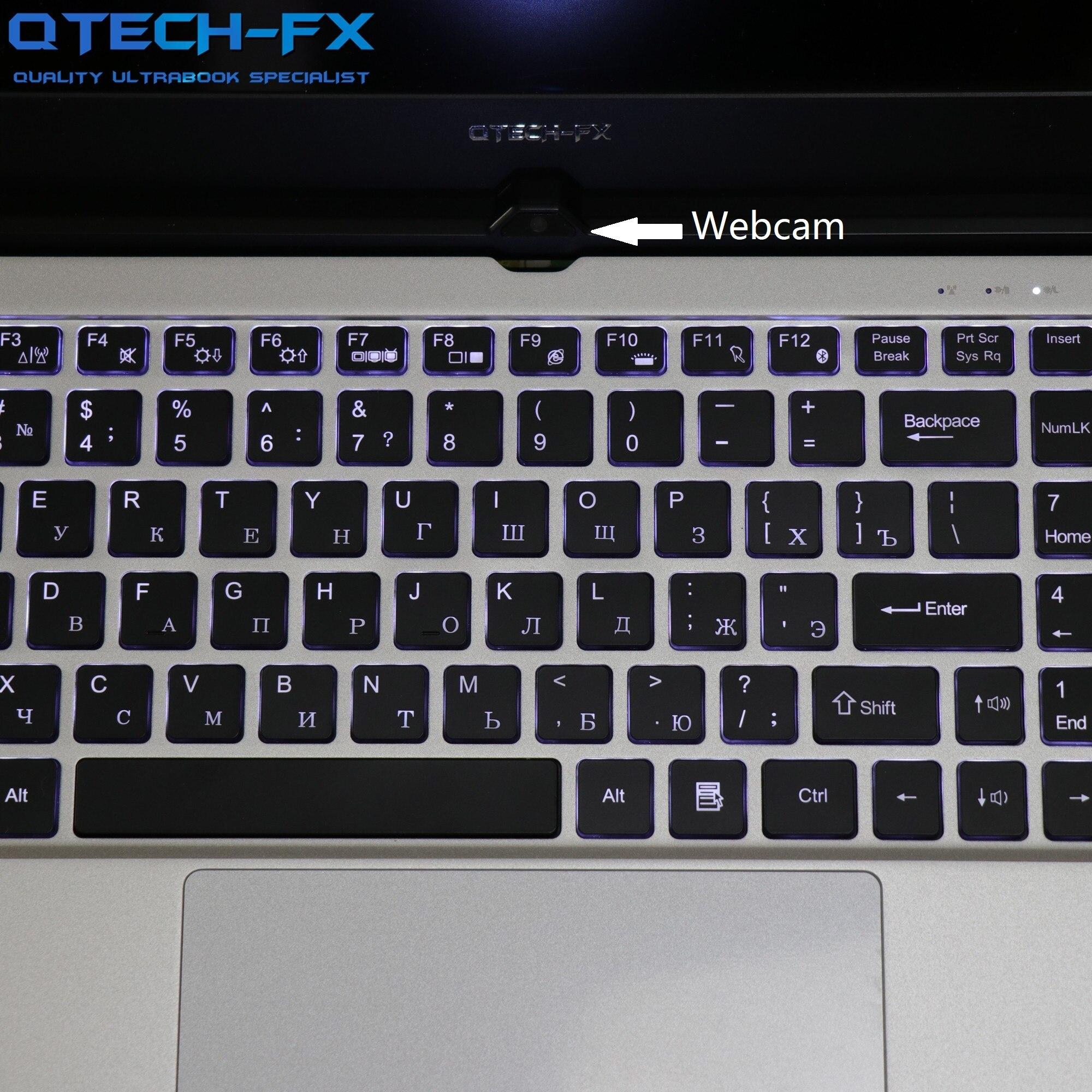 "Metal 15.6"" Intel i7/Pentium 16GB RAM 1TB HDD + SSD 128GB 500G Laptop Business Arabic AZERTY Spanish Russian Keyboard Backlit"