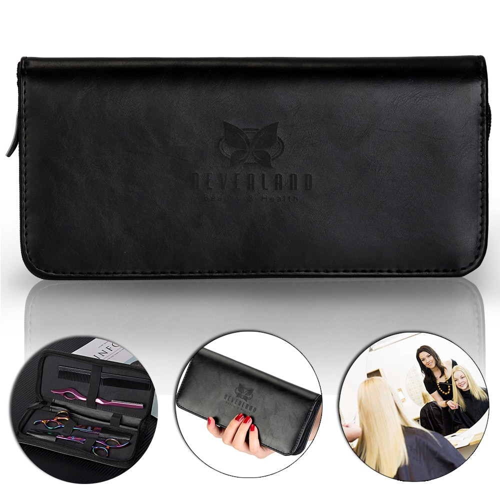 NEVERLAND Hair Scissors Bag Multifunction Storage Holder Pouch for Combs Clips Barber Professional PU Leather Hairdressing Tools professional hairdresser bags 2pcs or 4pcs scissors storage bags hair scissors case package holster pouch holder tool lzn0001