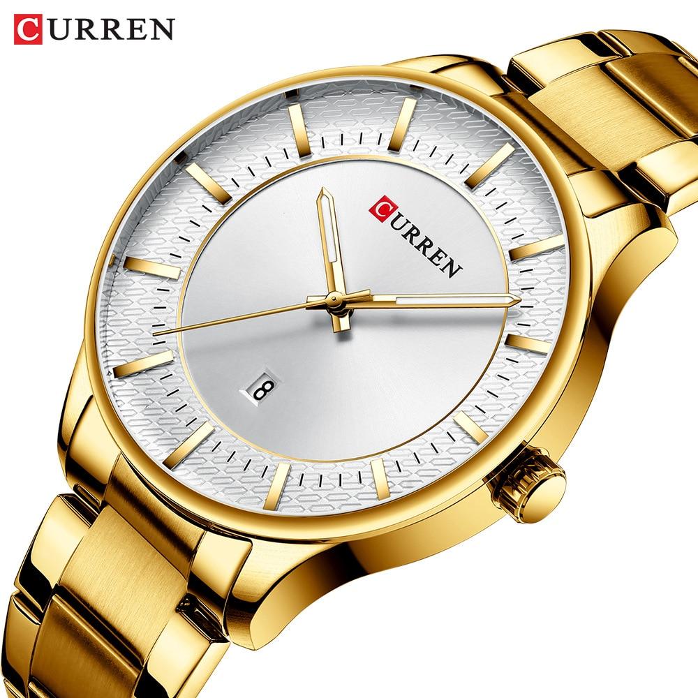 CURREN Men's Wrist Watch Stainless Steel Band Quartz Wristwatch Luxury Casual Business Gift Men curren watch relojes hombres de la marca de lujo curren reloj inteligente montre relojes curren men watch