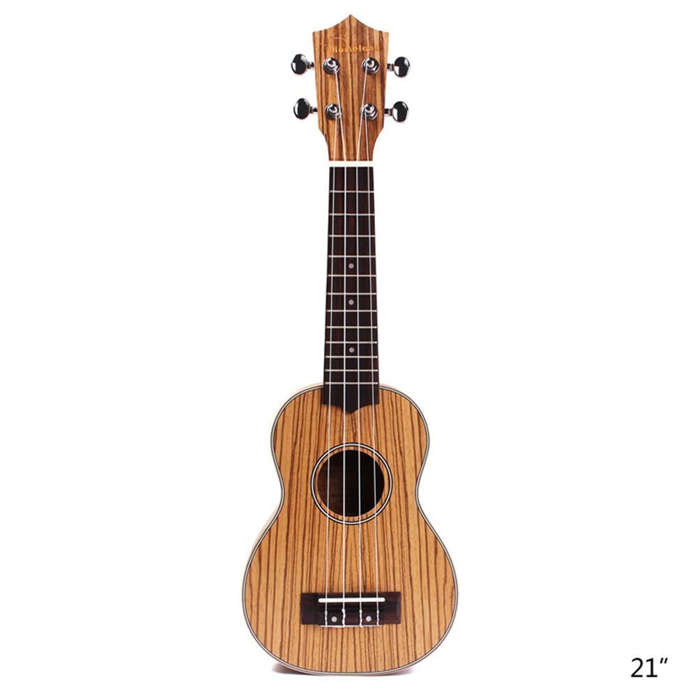Ukelele acústico de 21 pulgadas, 4 picaduras con correa de bolsa sintonizadora para instrumentos musicales de Guitarra, Guitarra Hawaiana de madera, ukelele, regalo para niños
