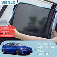 for subaru wrx sti 11th sedan 2014 2021 front windshield car sunshade side window blind sun shade magnetic visor mesh curtain