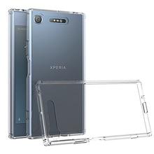 Sony Xperia için XZ1 kılıf Xperia XZ2 XA1 Ultra kılıf kristal arka kapak için darbeye dayanıklı Sony Xperia XZ1 kompakt kasa G8342 g8341
