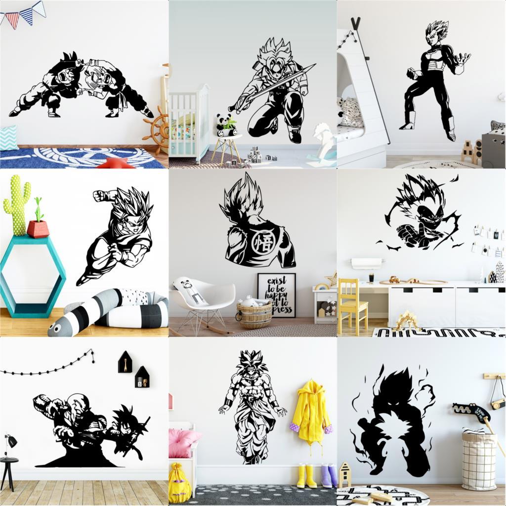 Bola de Dragón etiqueta de la pared etiquetas engomadas frescas de Wu Kong para habitación de los niños calcomanía de decoración del hogar