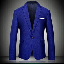 Snowflake Blue Point Blazer 2020 Slim Fit Important Party US Wedding Blazers For Men Stage Wear Mens