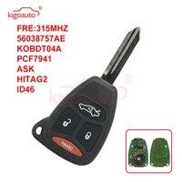 kigoauto kobdt04a remote head key 3 button with panic 315mhz large button for chrysler aspen 300 2007